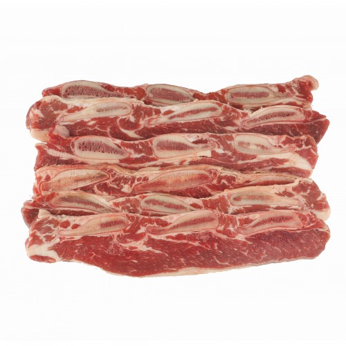 Sliced Beef Short Ribs, Bone In, USDA