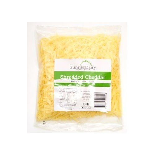 Cheddar Shredded Cheese, Sunrise Dairy (250g)