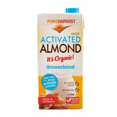 Pureharvest Organic Almond Milk, Unsweetened (1L)