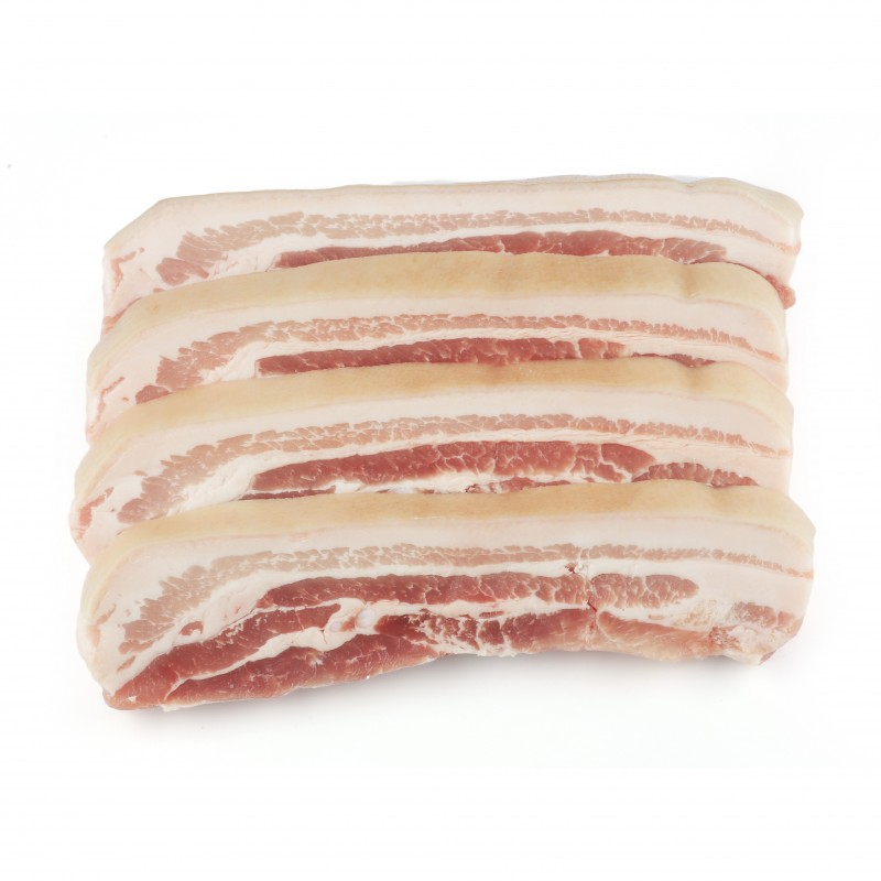 Sliced Pork Belly 1/2""