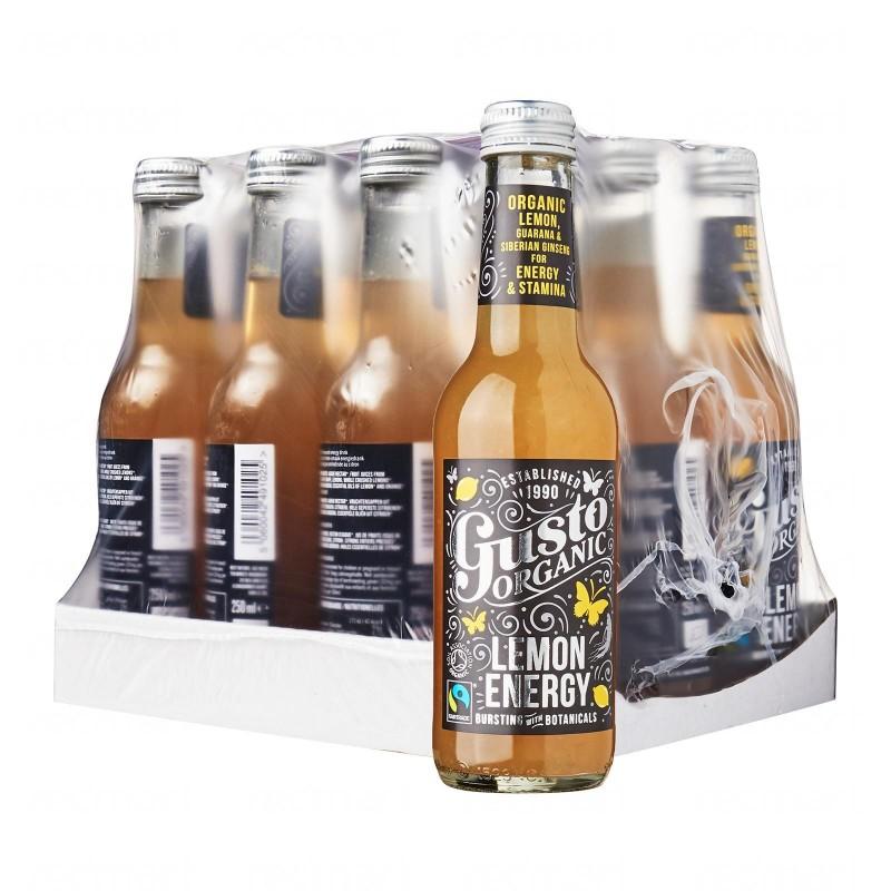 Gusto Organic Lemon Energy Bundle - 12 bottles