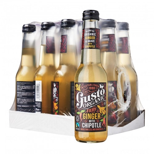 Gusto Organic Fiery Ginger with Chipotle Bundle - 12 bottles