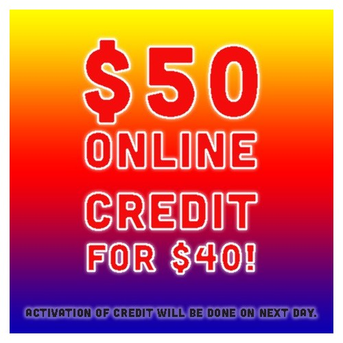 Cyber Monday 26 Nov Special: $50 CREDIT AT $40!